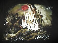 "2008 COLDPLAY ""VIVA LA VIDA"" Concert Tour (SM) T-Shirt CHRIS MARTIN"