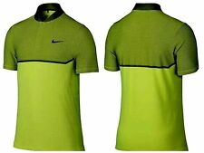 NWT Mens Nike Golf Momentum Fly Swing Alpha Polo Shirt Volt  802840 702 L $100