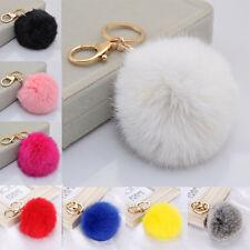 Ball Fur PomPom For Cell Phone Car Keychain Pendant Pom Pom Pompon Accessory