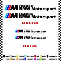 PEGATINA/STICKER/DECAL/AUFKLEBER/VINYL POWERED BY BMW MOTORSPORT