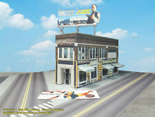 N Scale Building - Hardware Store -  PRE-CUT Card Stock (PAPER) Kit  BBN1