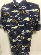 KNIGHT BRIDGE mens Hawaiian Print Large  blue shirt
