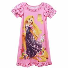 Disney Girl's Pink Rapunzel Floral Nightgown, Gown, Princesses, Size 4