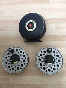 Vintage Garcia Mitchell 756 Fly Fishing Reel With Two Spare Spools