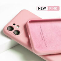 For iPhone 11 Pro Max Liquid Silicone Rubber Soft Case Cover Camera Lens Protect