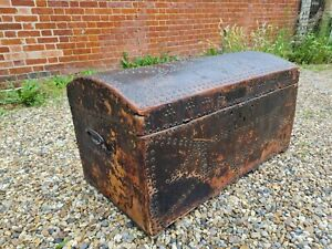 1680 Antique Leather Studded Trunk