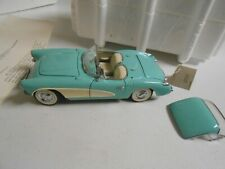 New ListingFranklin Mint 1956 Chevrolet Chevy Corvette 1:24 Scale Diecast Car