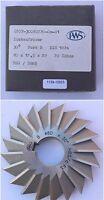Lückenfräser DIN 1824 - Form B - 30° - Ø80js16 x 12,5h12 x Ø22H7 / 20 Zähne