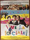 Affiche VIVE LA SOCIALE Mordillat FRANCOIS CLUZET Robin Renucci 40x60cm *D