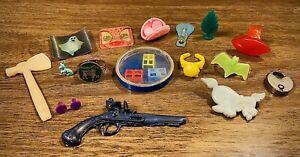 Vintage Lot Cracker Jack Gumball Machine Premium Prize Toys Rings, Flicker Cards