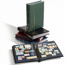 Classeur à bandes Premium cuir pour timbres 32 pages noires.
