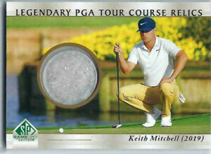 KEITH MITCHELL 2021 UD SP GAME USED GOLF SAND LEGENDARY PGA COURSE RELICS