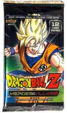 Dragon Ball Z Heroes and Villains Booster Pack SEALED DBZ Panini Dragonball