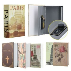 Secret Dictionary Book Travel Safe Security Key Lock Money Cash Jewellery Box UK