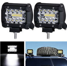 2 Pcs Car Truck 200W 20LEDs Spot Flood Work Driving Fog Light Bar with Bracket