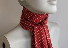 Dark Red Polka Dot Scarf (double layered 100% silk)
