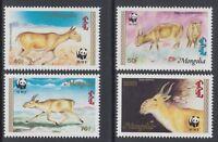 MONGOLIA1995 WWF Wild endangered fauna animals saiga stamp set 4v MNH