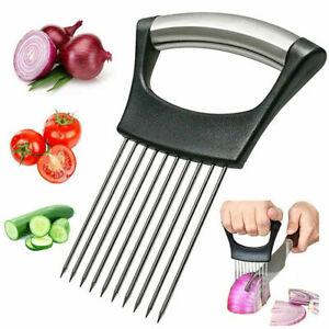 Food Slice Assistant Onion Slicer Vegetable Cutter Fish Meat Potato Holder Tool