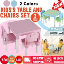 Childrens Plastic Table Chair Set Learning Studying Desk for Home & School