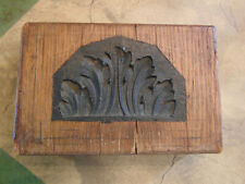 Antique Architectural Wood Mold Form Block for Plaster Work