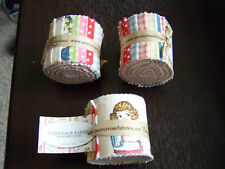 "PENNY ROSE ""PAPER DOLLS BAKERY"" ROLLIE POLLIE JELLY ROLL 2.5"" 11 PC FABRIC STRIP"