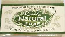 Natural Bar Soap With GREEN CLAY for  Oily Skin Detox Home Spa 100g