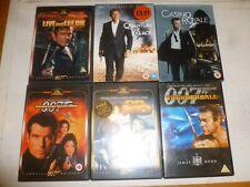 JAMES BOND - 6 Disc Set - 6 DVD Films in original cases