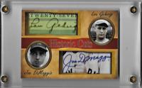 Lou Gehrig Joe DiMaggio Historic Cuts Dual Facsimile Autographs Card