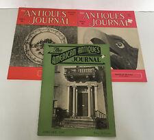 vintage antiques journal and American antiques journal 3 publication lot 1960's