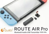 GuliKit Route Air Pro Bluetooth Adapter with Mic for Nintendo Switch/Switch Lite