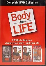 BODY FOR LIFE (DVD, 4-DISC SET) R-ALL, LIKE NEW, FREE POST WITHIN AUSTRALIA