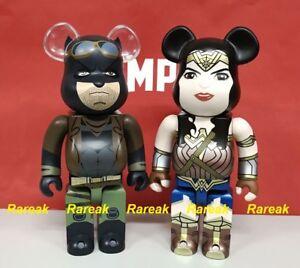 Medicom Bearbrick DC Wonder Women & Knightmare Batman DOJ 400% Be@rbrick Set 2pc