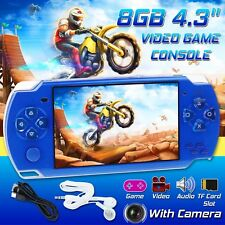 "32Bit Portable 8GB 4.3"" PSP Handheld Game Console Built-In Games+Camera battery"