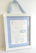 BABY BOY PHOTOFRAME PLAQUE SIGN GIFT PRESENT BABY SHOWER UK CHRISTENING