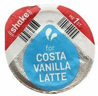 Tassimo Costa Vanilla Latte Milk Creamer Pods 8 16 24 32 40 (NO COFFEE DISCS)
