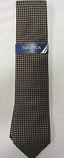 NEW WITH TAGS MEN'S NAUTICA TIC TACK NEAT NECKTIE TIE, ONE SIZE, BLACK/BROWN