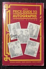 1991 The Price Guide to AUTOGRAPHS Second Edition VG/FN 5.0 608pgs