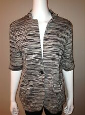 Chicos Cardigan Size 3 = 16 XL Womens 3$ Sleeve Striped Single Button Knit Top