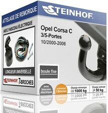 ATTELAGE fixe OPEL CORSA C 3/5-Portes 2000-2006 + FAISC.UNIV.7 broches COMPLET