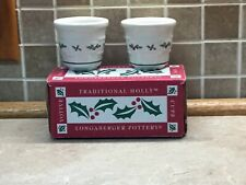 2 Longaberger Woven Traditions Red Pottery Votive Cups #35921 New In Box