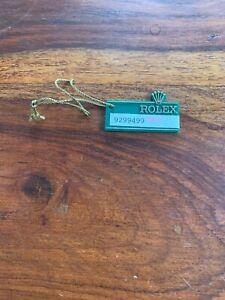 Vintage 1986 Rolex Hang Tag