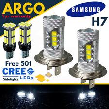 H7 Xenon Super Power White Cree Headlight Dipped Main Beam 12v 501 22 Led Bulbs