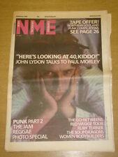 NME 1986 FEB 8 JOHN LYDON JAM LIBERTEENS RED WEDGE