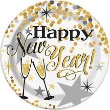 8X Brillante Dorado Fiesta de Año Nuevo Platos Postre Año Celebración Vajilla