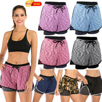 Hot Running Yoga Shorts for Lady Sport Workout Activewear Running Short Pants LZ