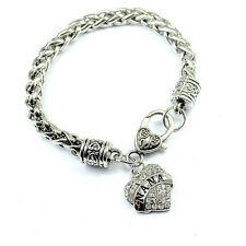 NANA Bracelet Braided Chain Silver  Heart Charm GRANDMOTHER grandma Mothers Day