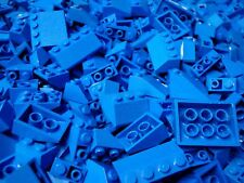 50 Lego Sloped Bricks BLUE SLOPES Roof Inclines Wedges House Slope Pieces Lot
