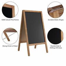 Large Heavy Duty Wooden A-Frame Chalkboard Sidewalk Sign Board Advertising Stand