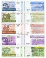 Madagascar 100 + 200 + 500 + 1000 + 2000 Ariary Set of 5 Banknotes 5 PCS UNC