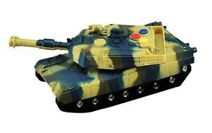 Elektrischer Panzer Spielpanzer Kinderspielzeug mit Sound/Licht/Friktion Rückzug